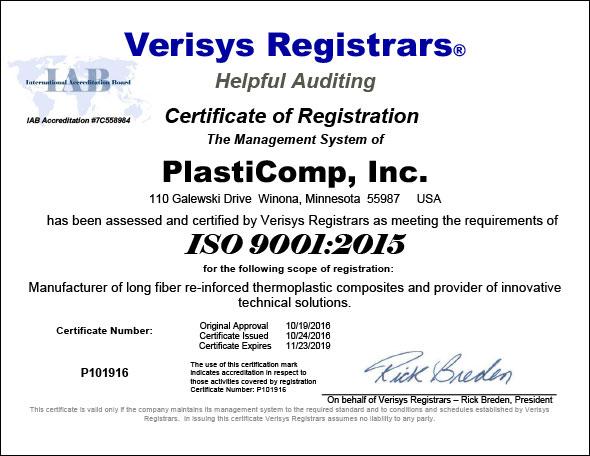 ISO 9001:2015 Certificate of Registration