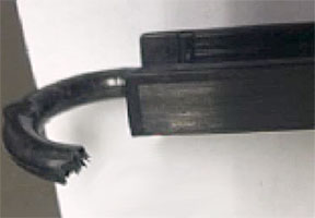 Figure 2B: Tape insert in as-molded I-beam.