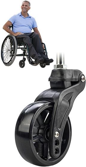 Carbon Fiber Wheelchair Caster Wheel
