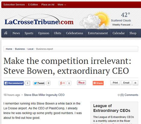 PlastiComp CEO Featured in La Crosse (WI) Business Column